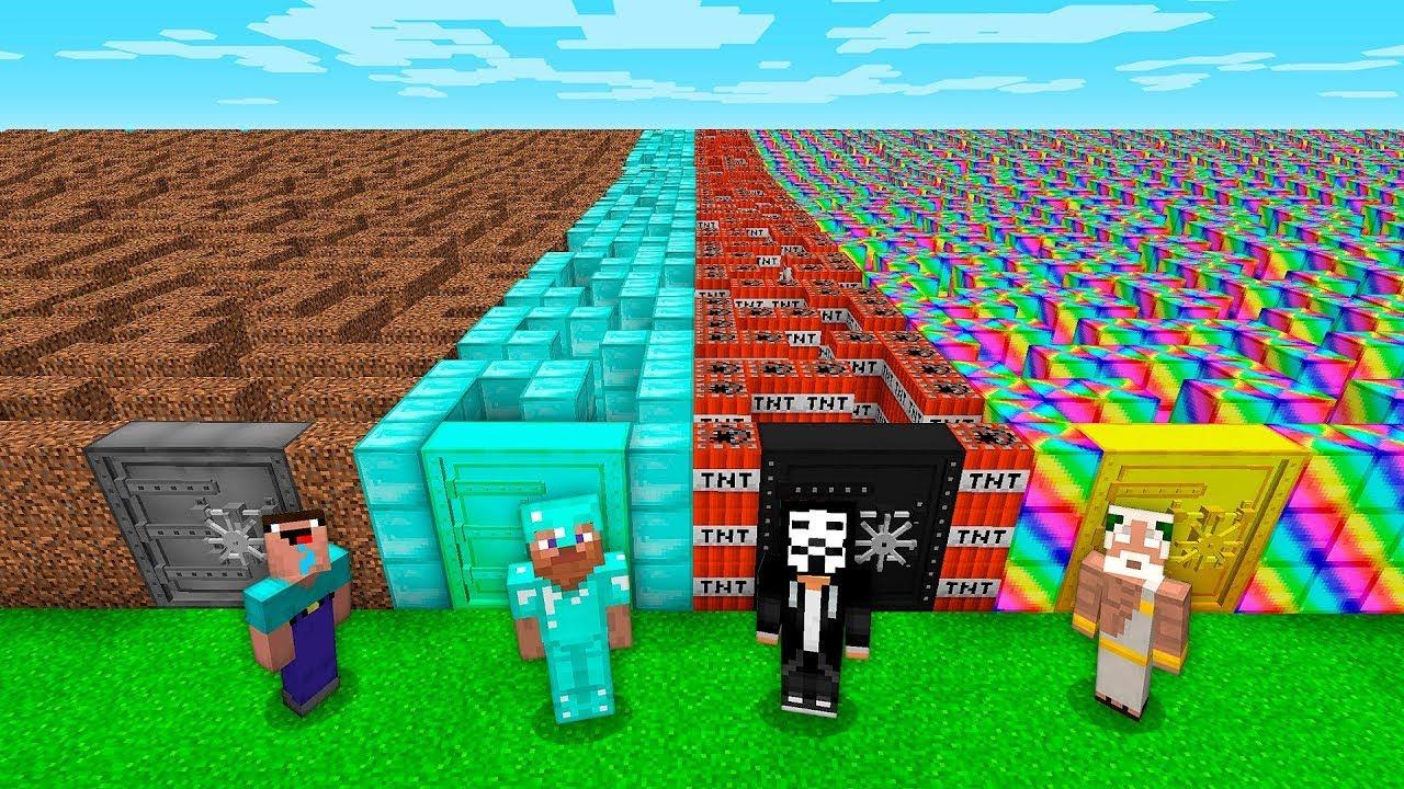 我的世界搞笑动画:防小偷巨型迷宫隐藏钻石挑战赛-菜鸟vs高手