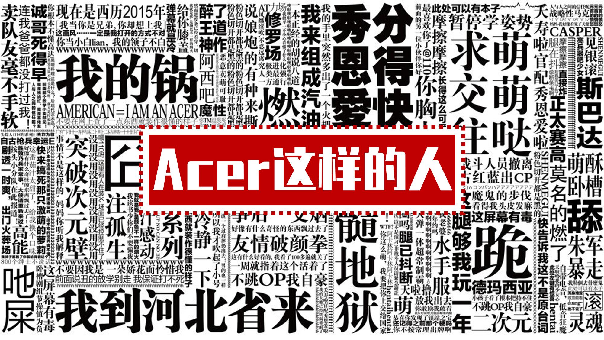 【嗨歌祭10】Acer这样的人【翻唱】