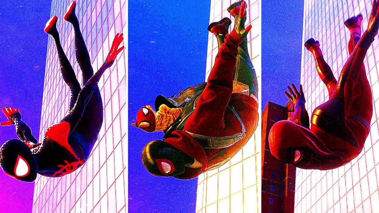 《漫威蜘蛛侠:迈尔斯·莫拉莱斯》穿不同的战衣从最高点跳下