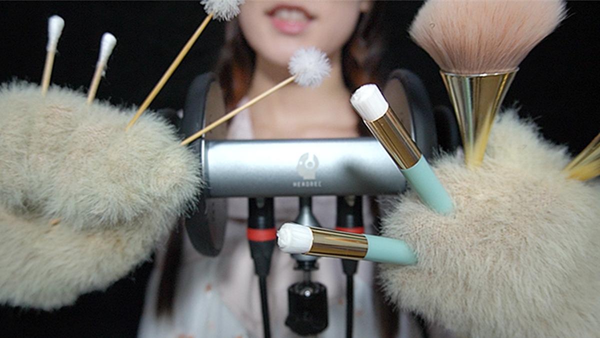 掏耳享受 用不同的道具给你掏耳朵呀超舒适