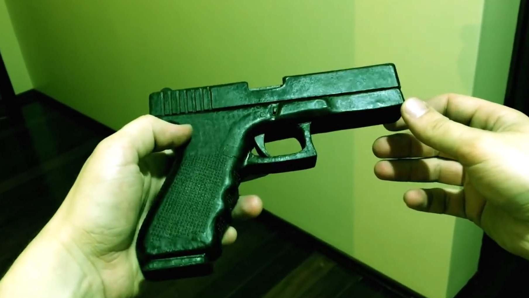 如何用纸板制作一把纸板枪wgog941-纸板手工制作