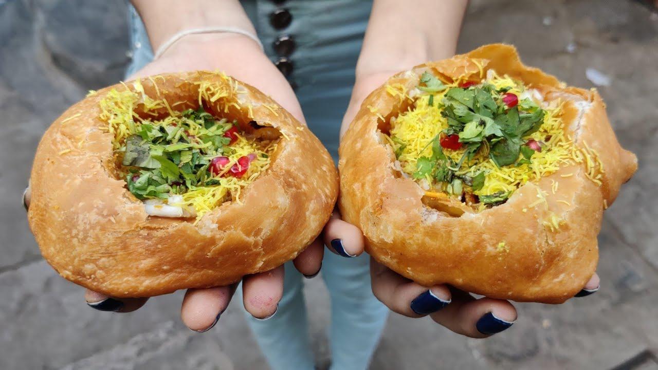 印度街头上最干净的小吃,这个土豆泥塞炸酥球吃着肯定不会拉肚子
