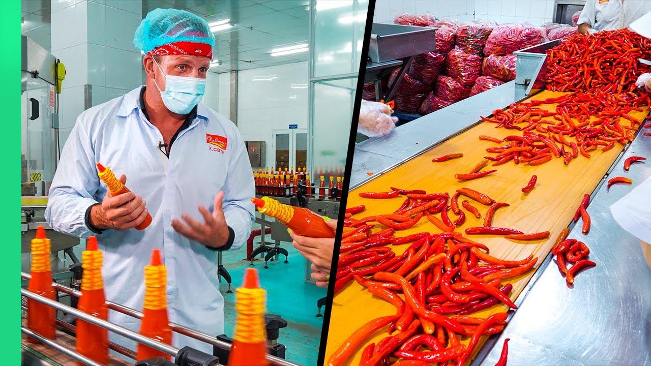 超市出售的辣椒酱制作过程原来是这样的,每周一百万瓶!