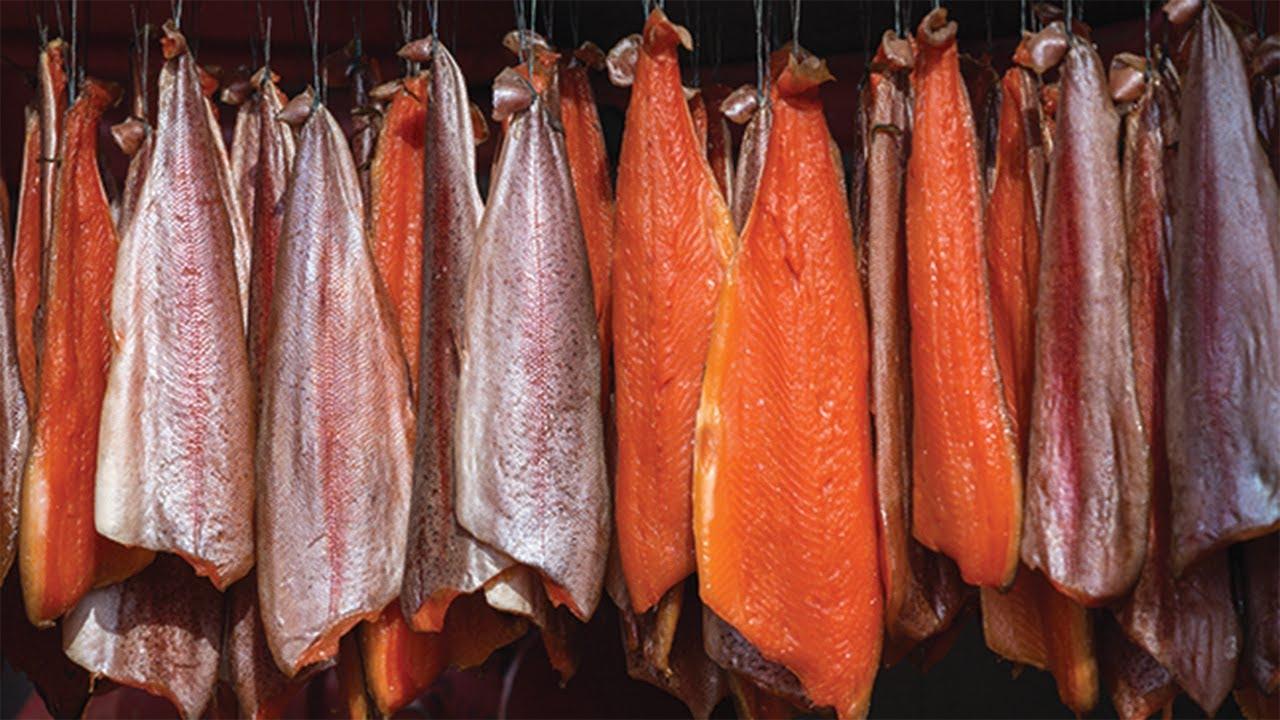 烟熏鲑鱼和蜂蜜鲑鱼是如何制作的惊人的鲑鱼加工2020