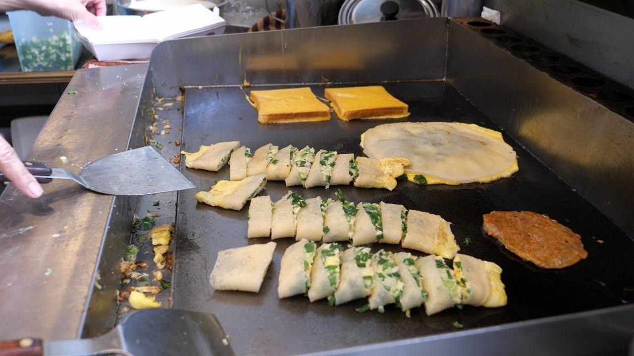 台湾早餐 - 三星葱蛋饼, 鲔鱼法式吐司, 手冲咖啡