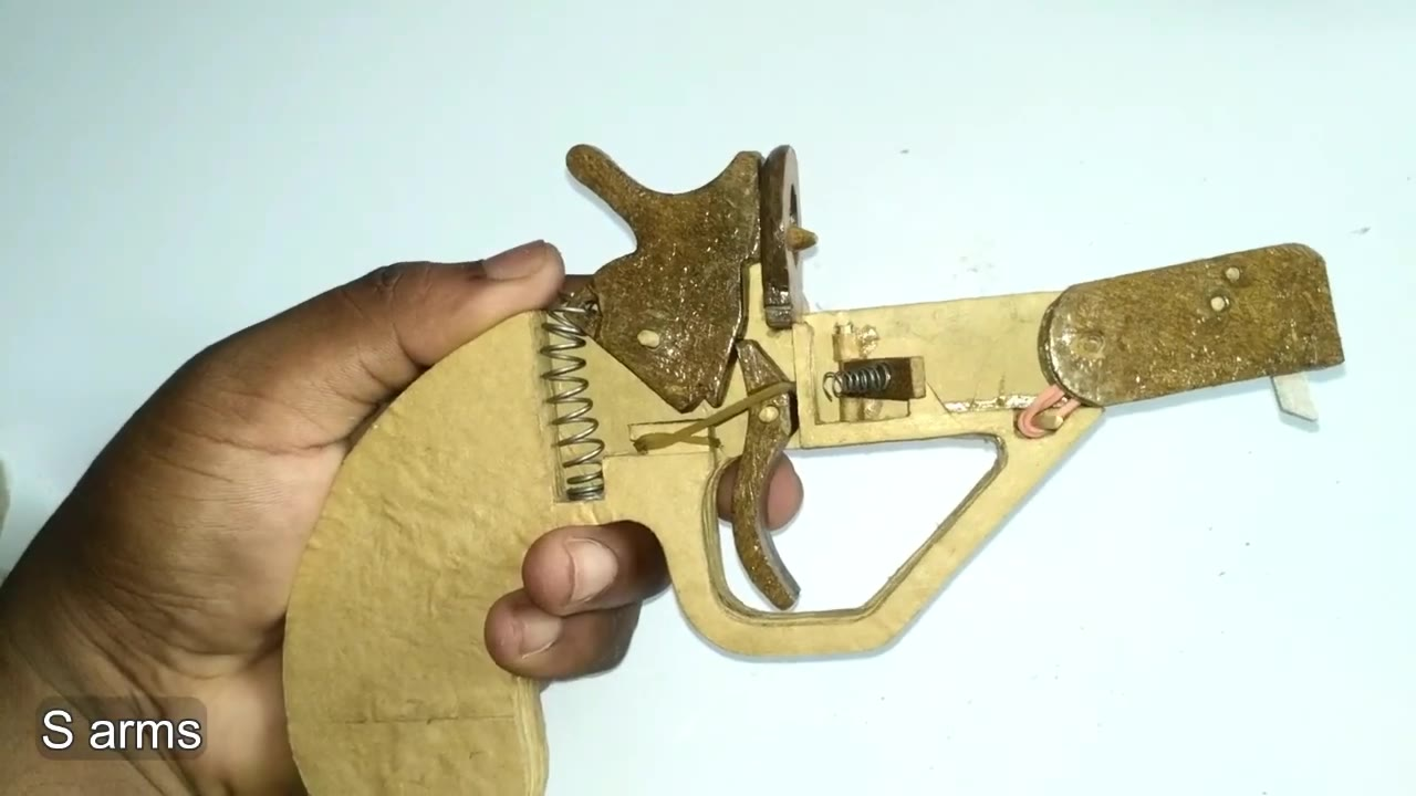 纸板制作手工玩具如何制作硬纸板枪wgog942-纸板手工制作图纸下载