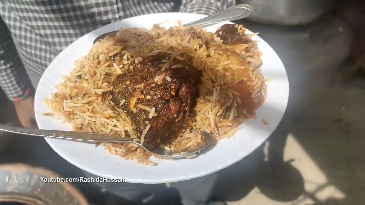【巴基斯坦街头美食】阿三的手抓饭,巴基斯坦至少用勺子吃