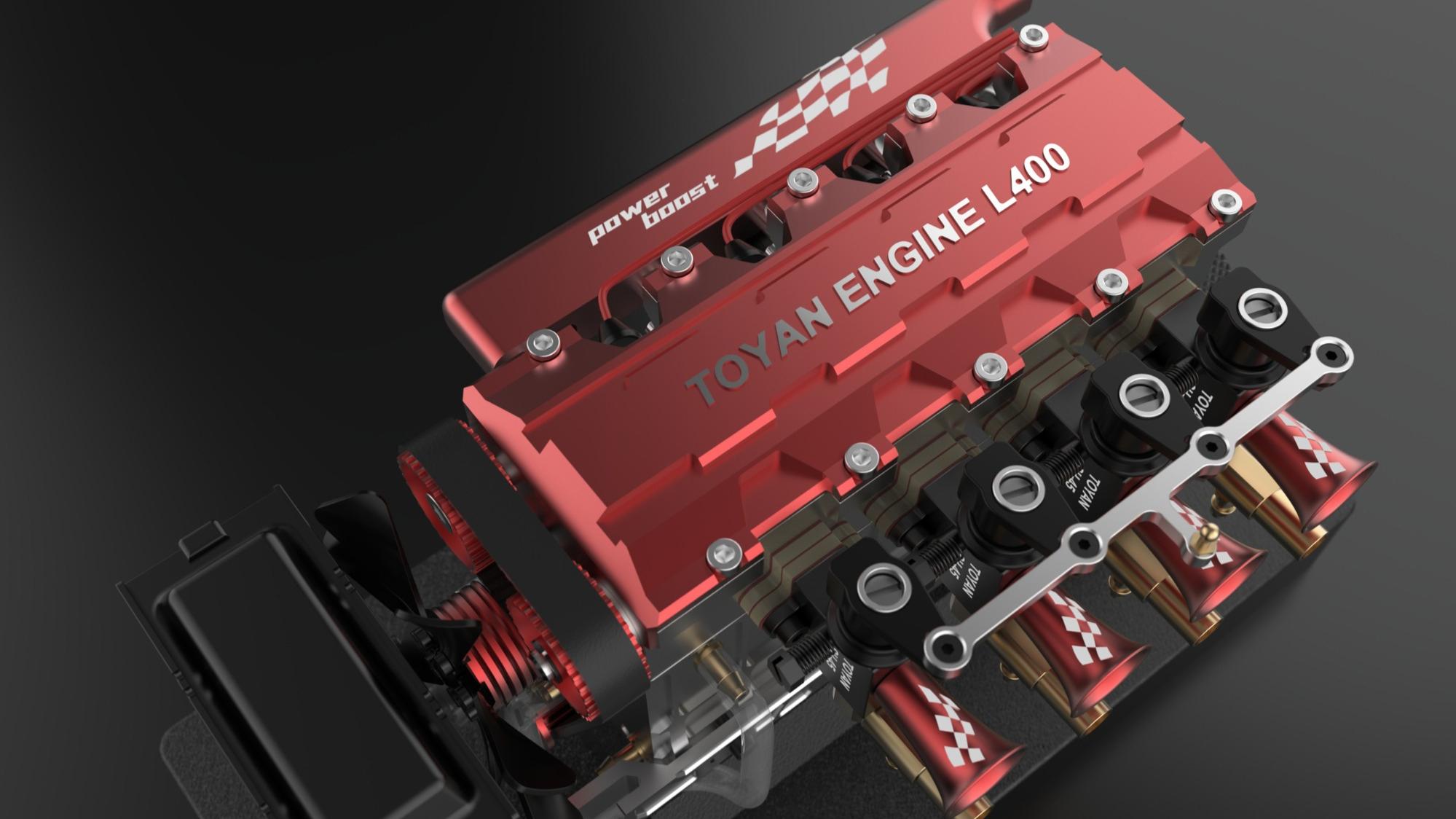 直列四缸水冷发动机FS-L400开箱测试