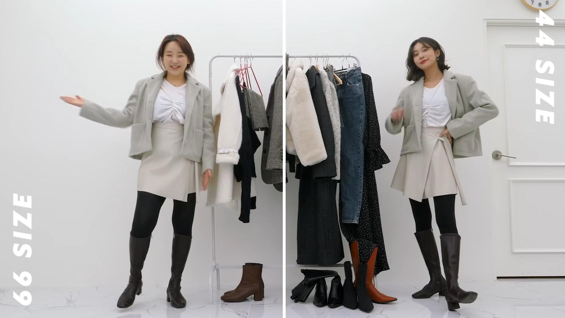 65kg VS 45kg ~看不同身材的小姐姐穿同一套服装