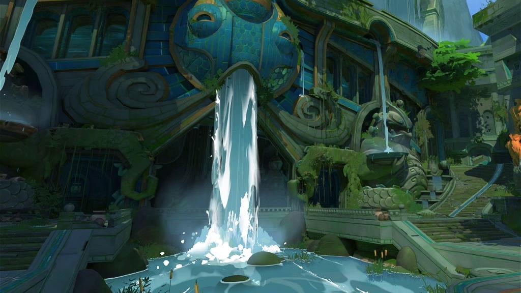 卡通水面  瀑布特效制作教程  2D表现3D视觉效果