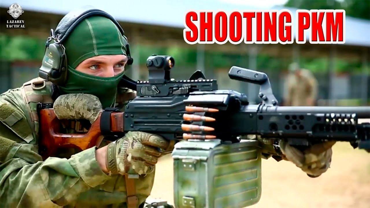 俄罗斯特种部队PKM机枪射击训练