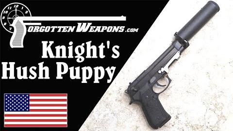 """【被遗忘的武器/双语】奈特XM9伯莱塔""""小狗别叫""""消音器套装 - 空军飞行员自卫手枪版"""