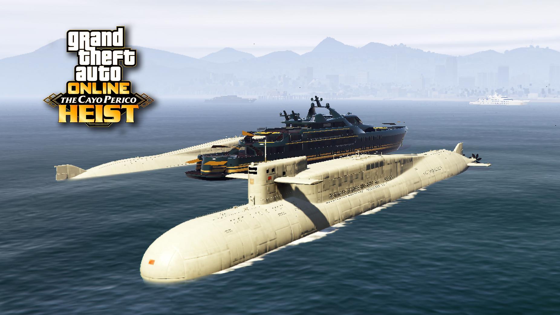 【GTA5】最新载具资产:虎鲸潜水艇,拥有垂发和直升机的导弹核潜艇!