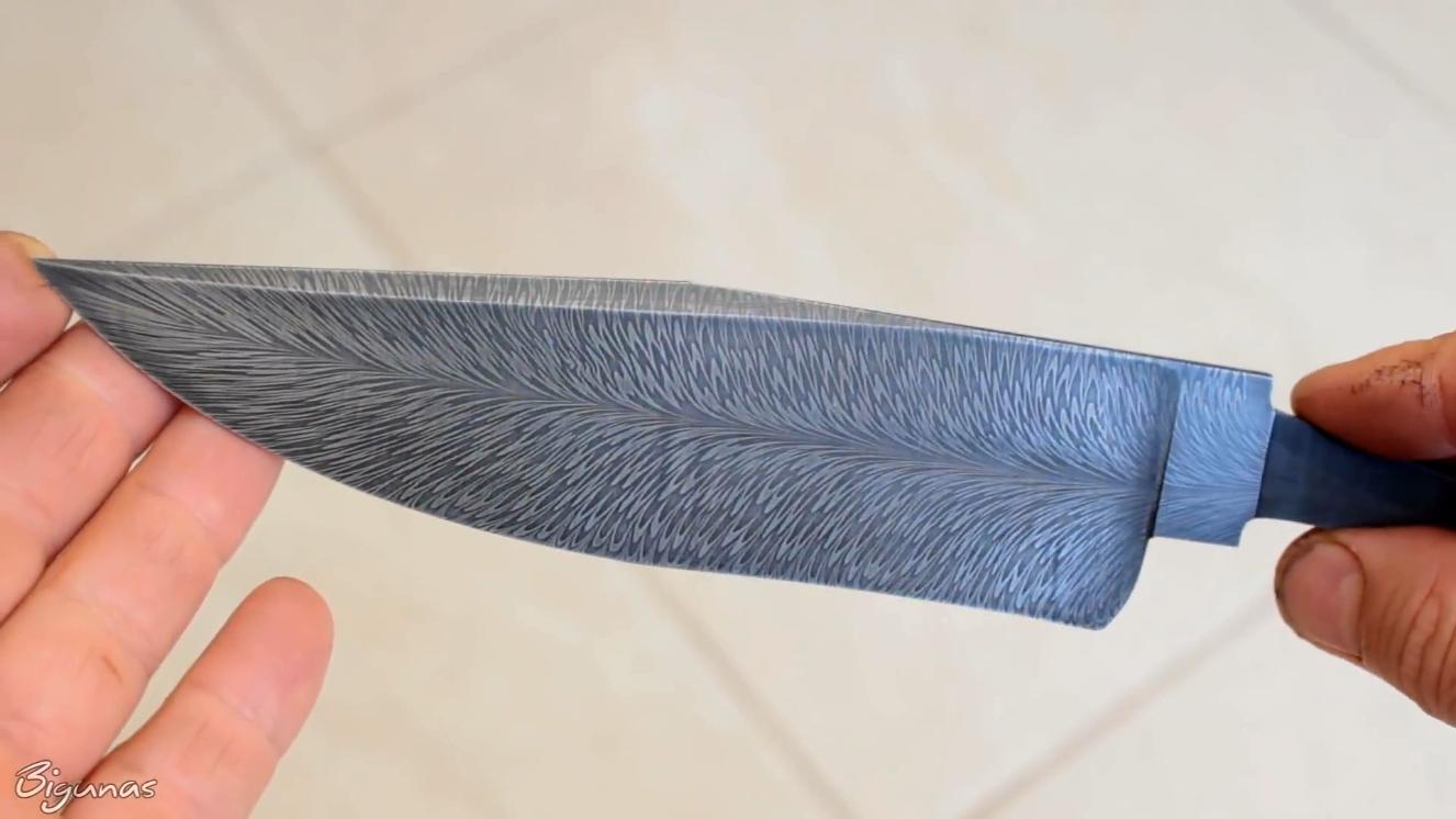 锻造羽毛纹大马士革
