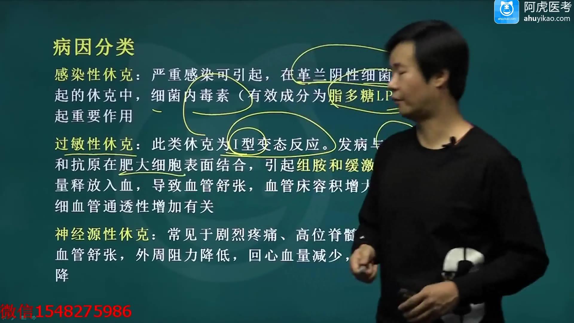 2021阿虎医考急诊医学副主任医师最新视频课程-休克