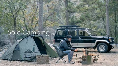 【日本露营】在山谷中露营的冬天-日本南部的新帐篷