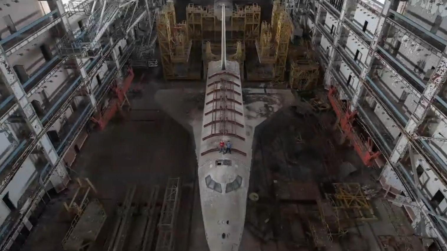 被苏联遗弃的航天飞机