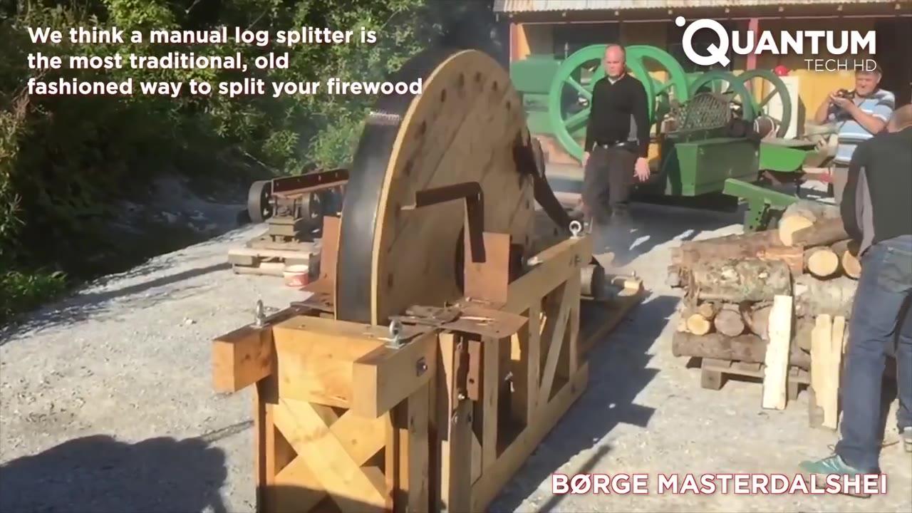 国外各种锯木头的奇妙的装置