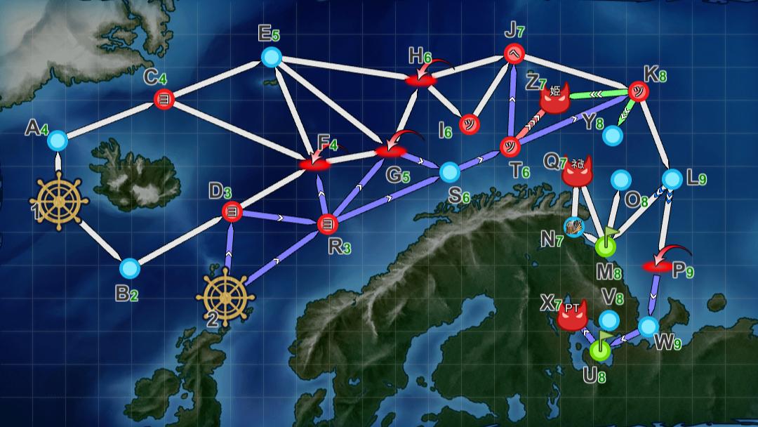舰队collection 2020秋季活动 護衛せよ!船団輸送作戦 实况录像(前段)