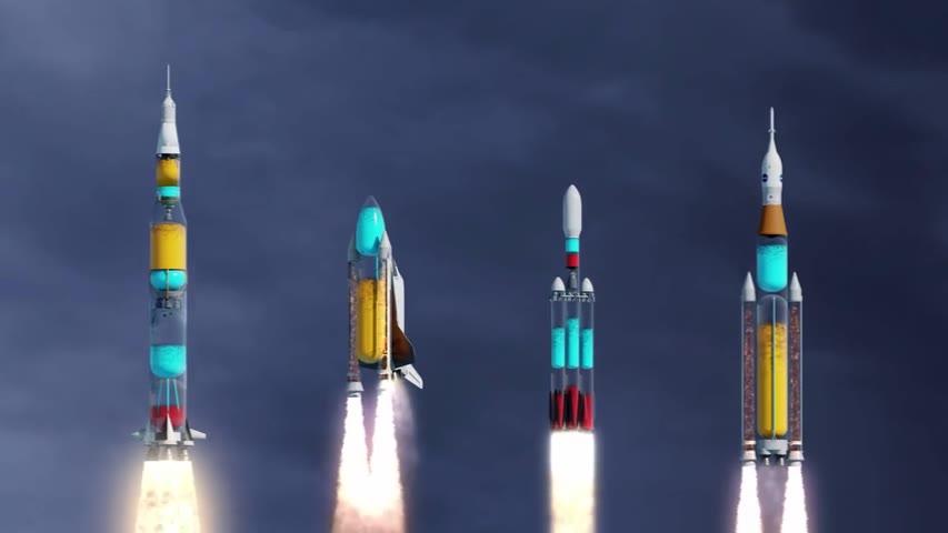如果火箭是透明的,发射过程是怎样的呢