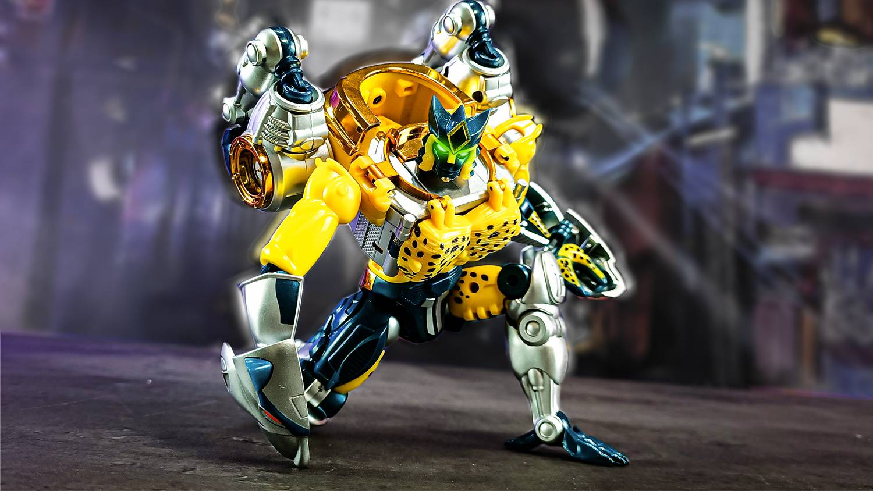 【全球首发】TA金属变体黄豹勇士把玩评测带定格动画