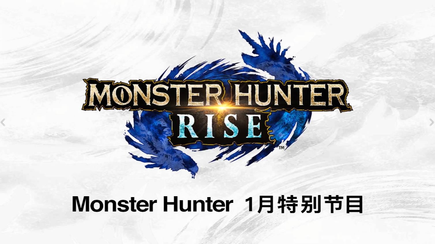 《Monster Hunter 1月特别节目》公开!进一步了解RISE的最新情报及体验版内容