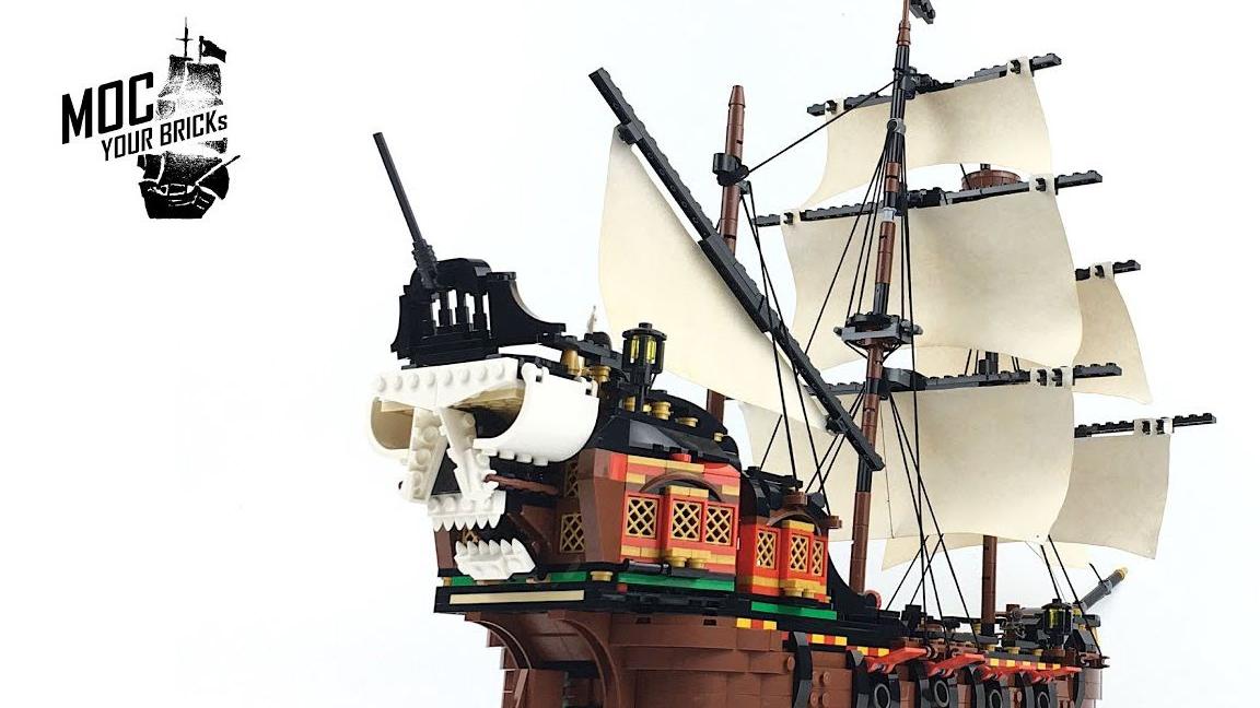 乐高MOC教程 创意百变31109 升级 海盗船