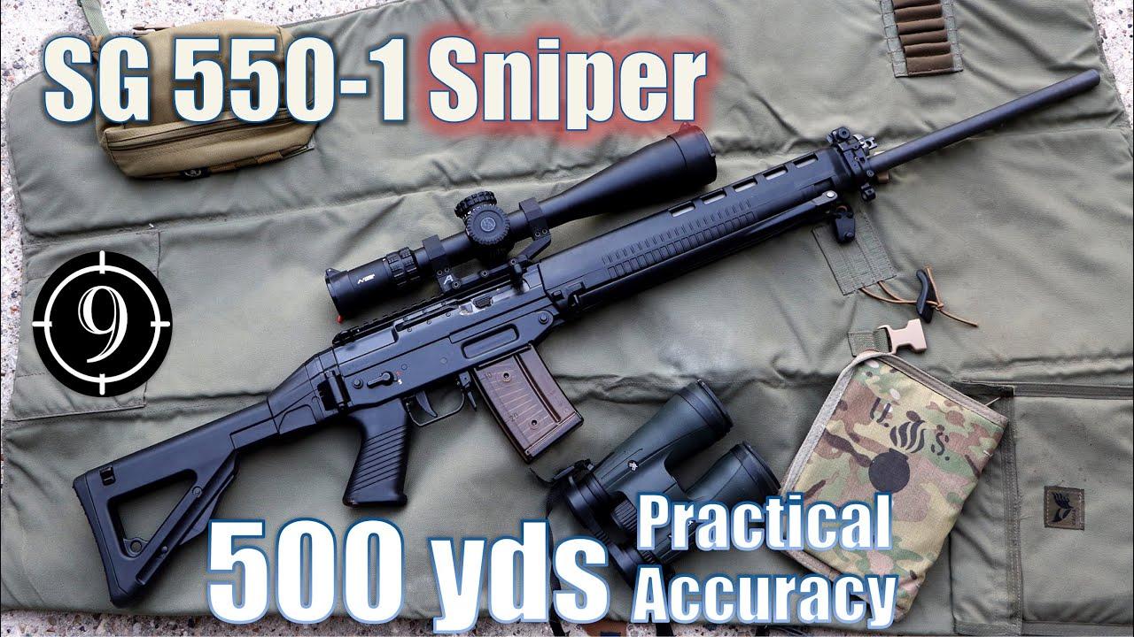 [9-Hole Reviews]SG 550-1警用狙击步枪500码精准射击挑战