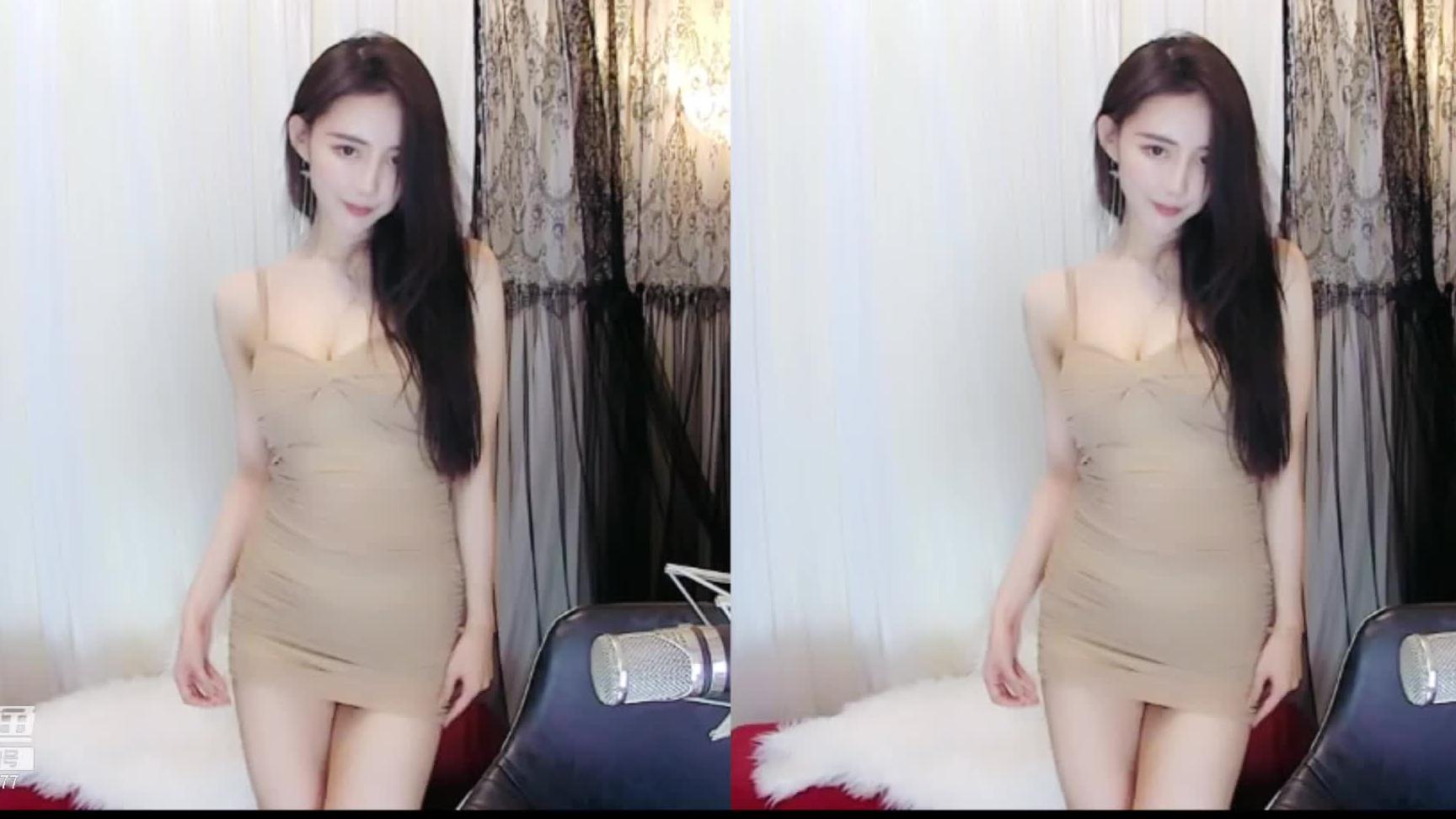 斗鱼美女主播王雨檬1.25美腿热舞直播录像