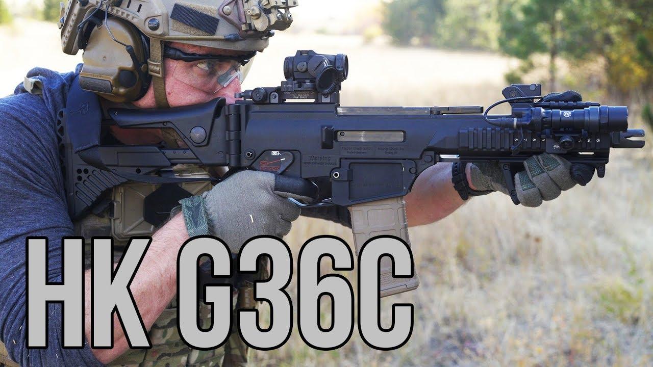 试射HK G36突击步枪