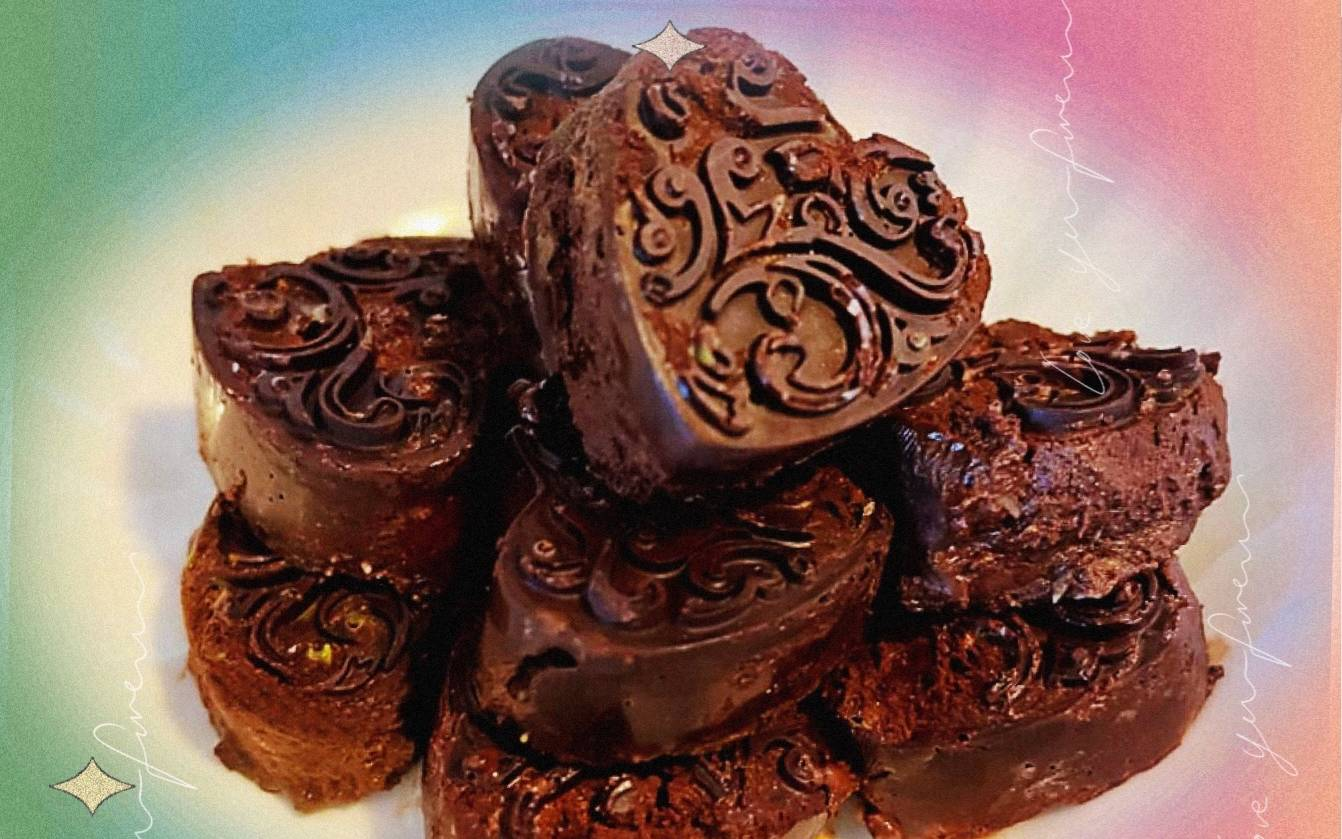 【214巧克力日快乐~】和狐狸一起做巧克力吃吧~是抹茶牛奶口味的哦~