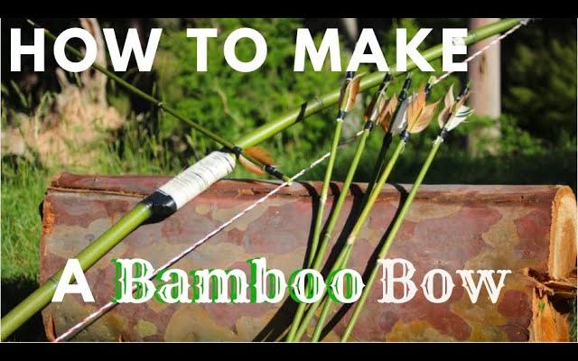 如何制作竹弓和箭