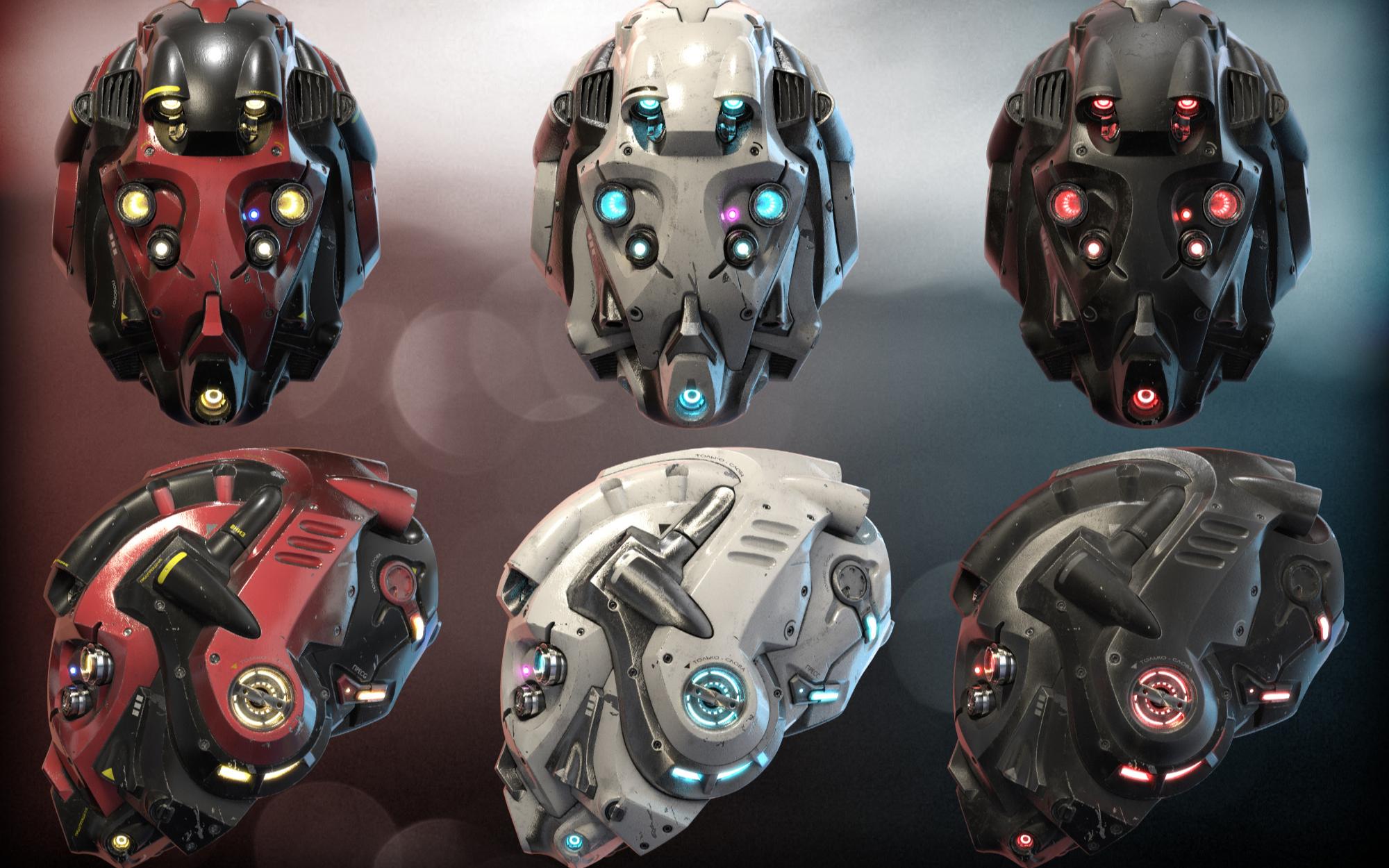 【Blender】Kent Trammell《太空科幻头盔模型制作》(中英双字)