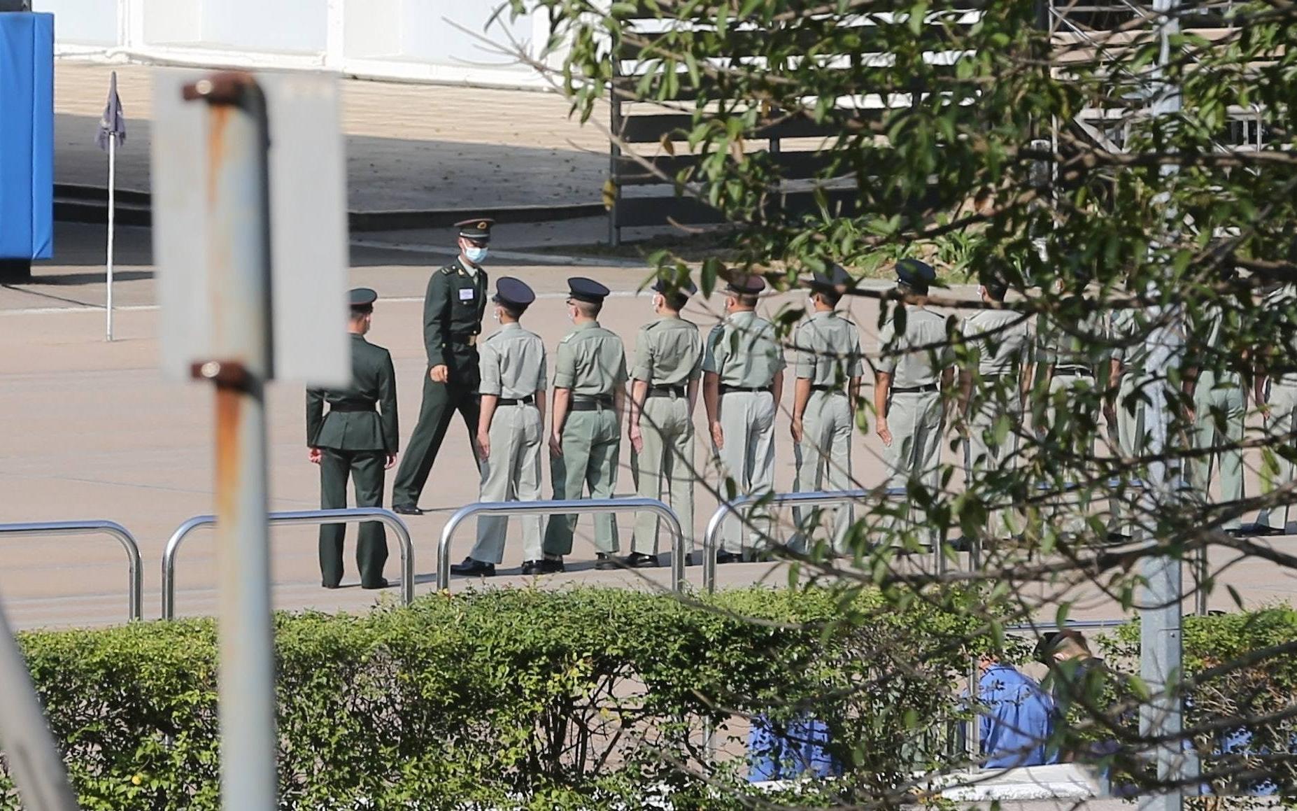 帅气!香港警察训练中式正步,解放军教官倾力教授