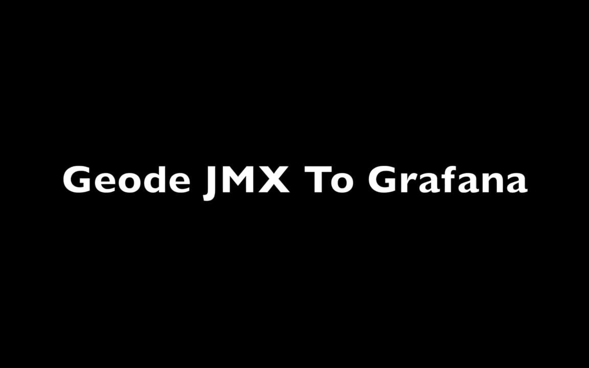 Grafana Dashboards for Apache Geode (GemFire) JMX