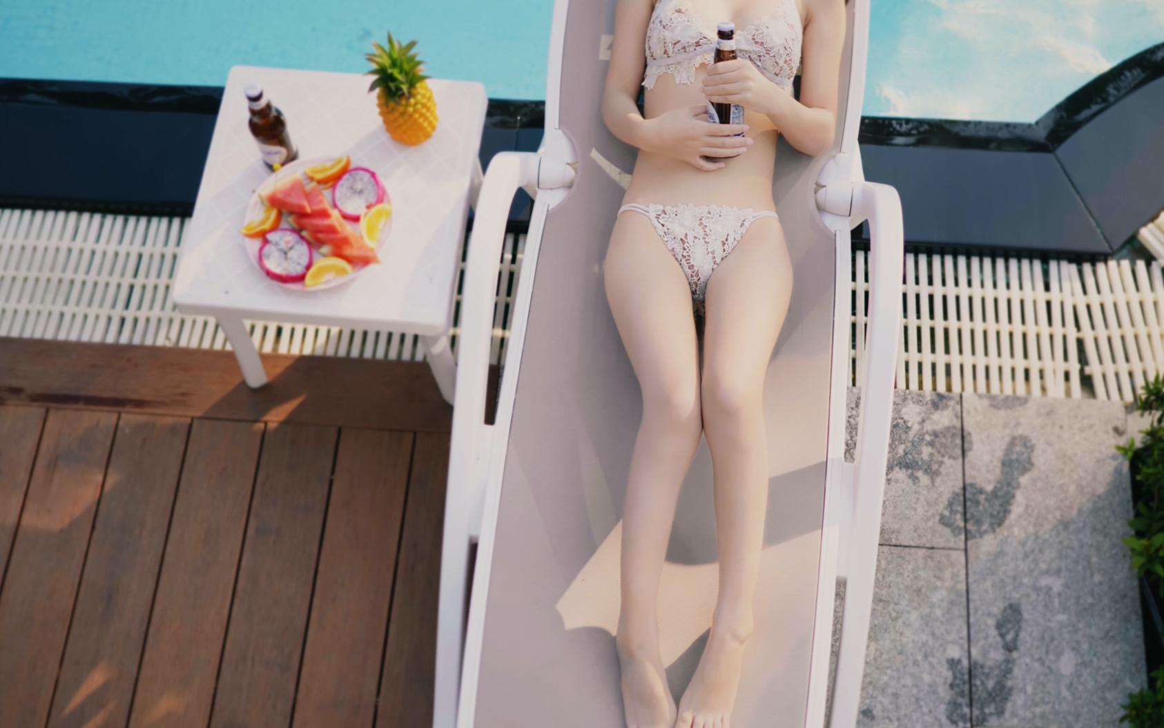 【超清4k】【水下摄影】三亚旅行的泳装拍摄来了