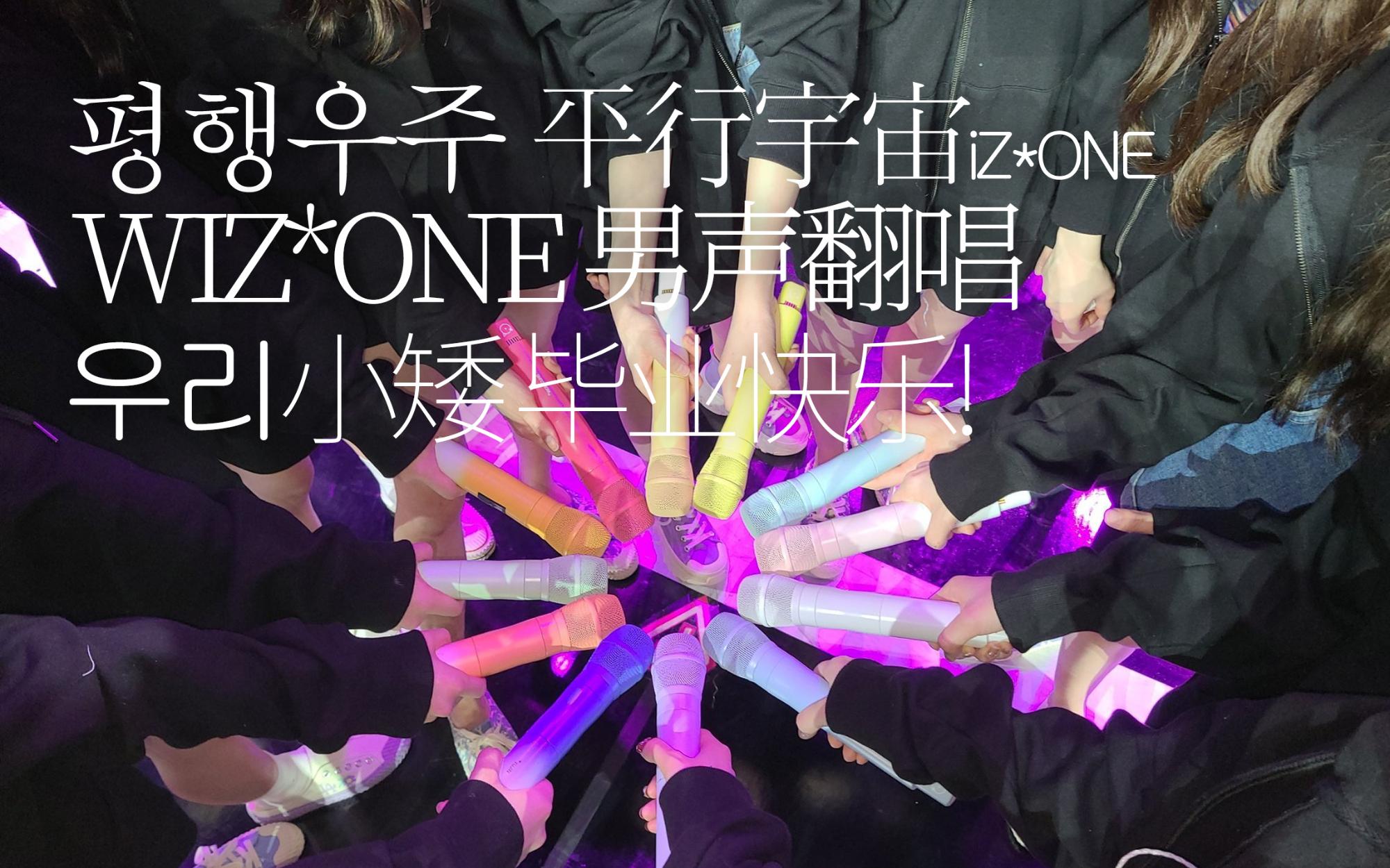 WIZ*ONE催泪男声翻唱《平行宇宙》| 小矮毕业快乐!Cover.iZ*ONE【么羊】