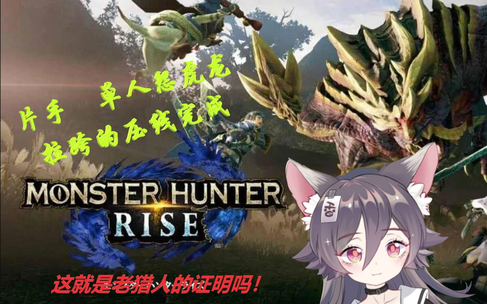 【怪物猎人Rise】这就是老猎人的证明吗,片手剑单人怨虎龙完成!香香的录播片段=v=
