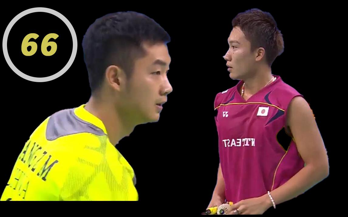 【66】【精剪】 王睁茗vs桃田贤斗【2014法国公开赛