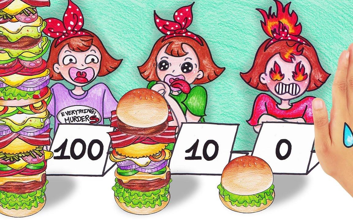 100个汉堡制作!