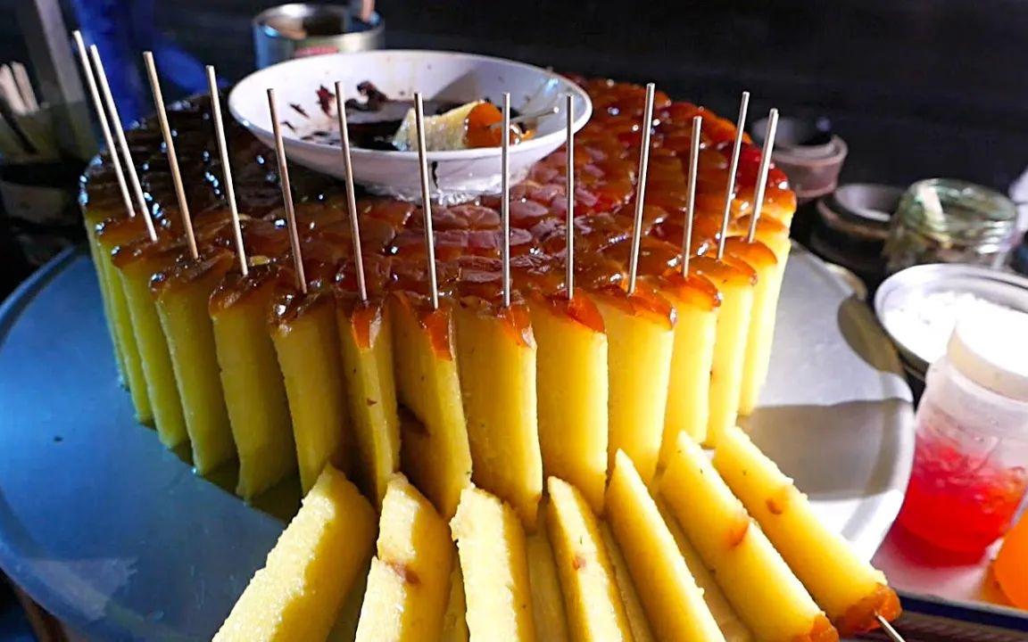 西安老字号美食,纯手工的蜜枣年糕