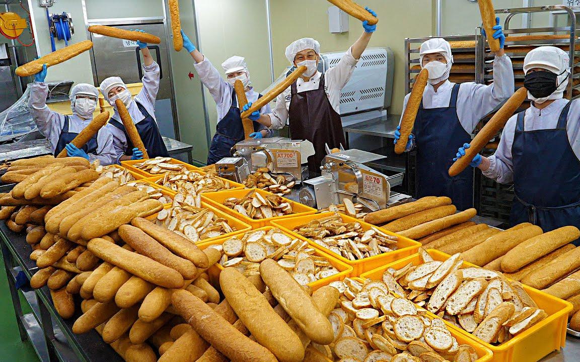 大规模生产! 韩式摘心面包