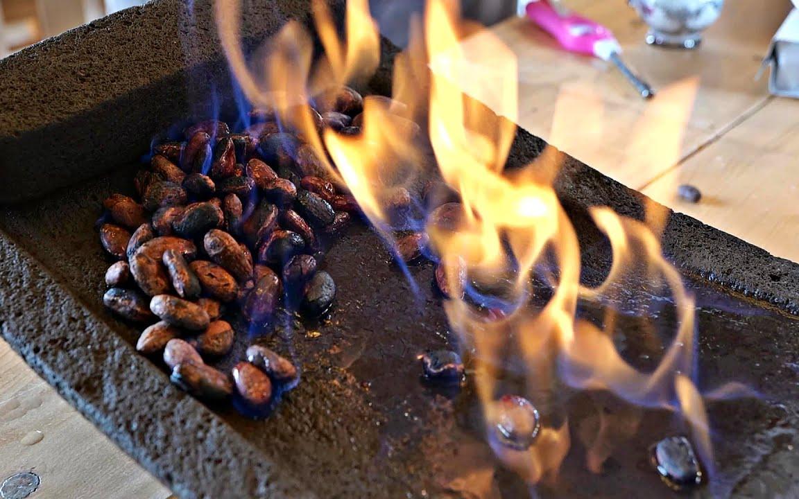 如何制作传统玛雅巧克力 韩国街头食品