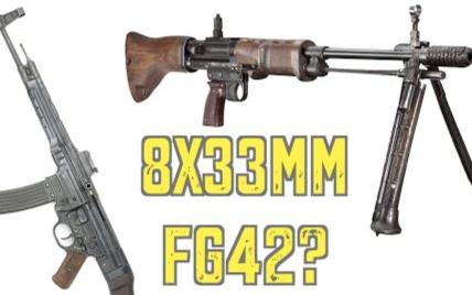 【被遗忘的武器/双语】有趣的假设: 8×33短弹的FG-42, 可行吗?