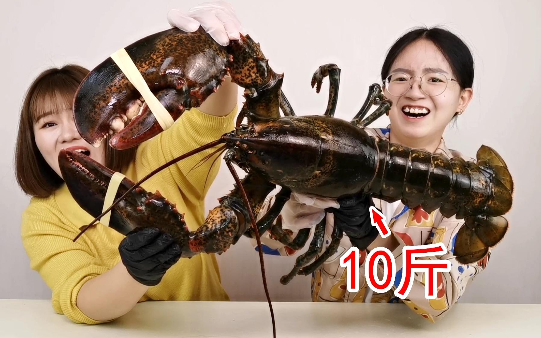 10斤的波士顿大龙虾做成虾片会是什么味道!