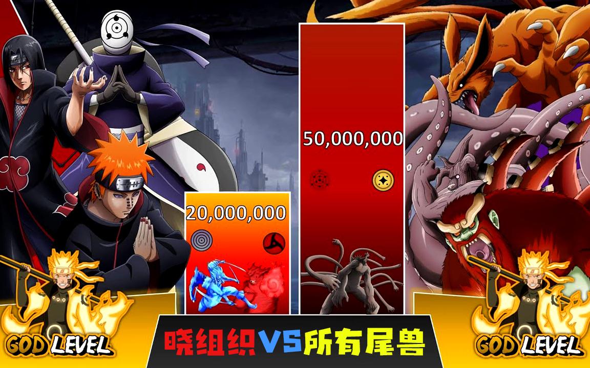 《火影》战斗力对比:晓组织全员VS所有尾兽!