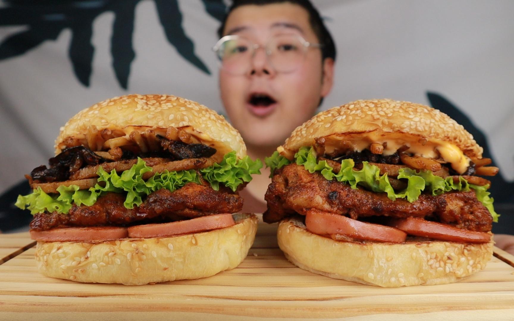 麻辣香锅做汉堡?自制香锅风味鸡腿双层堡,比肯德基还好吃!