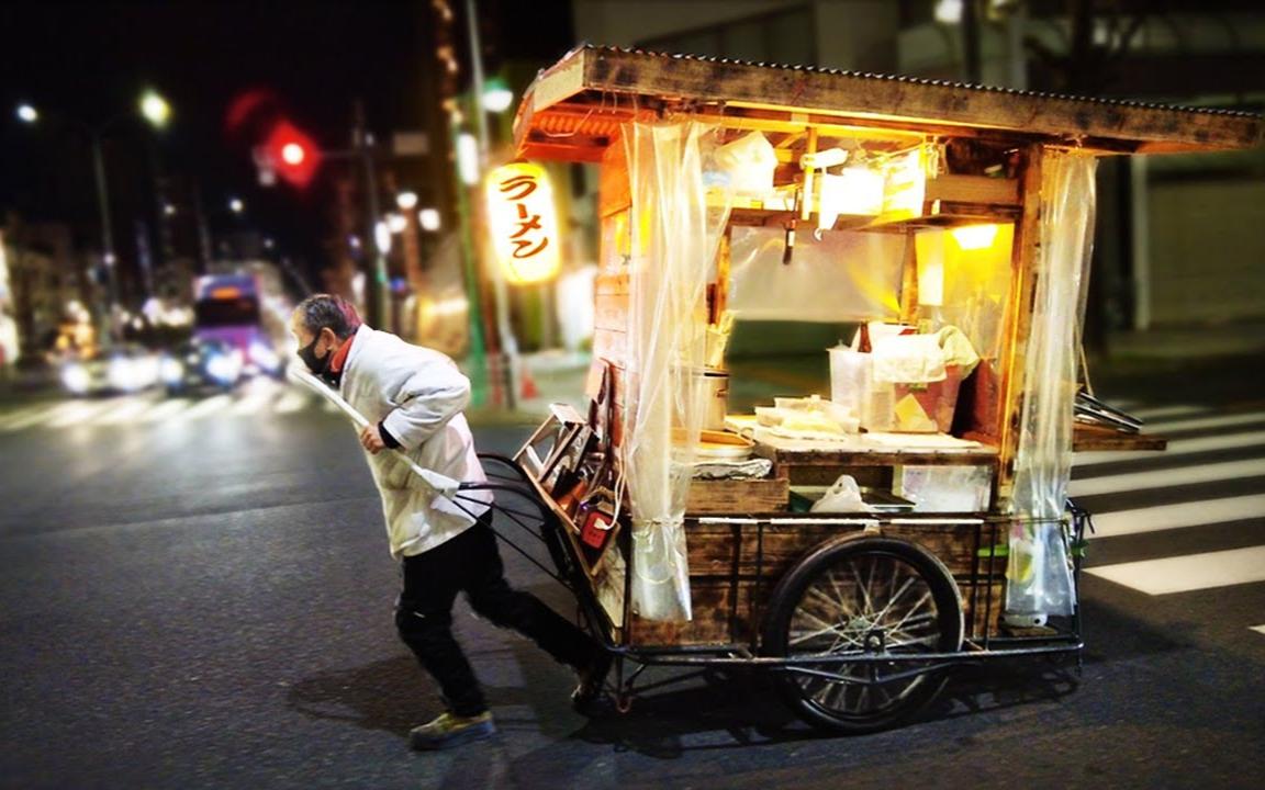 旧式拉面摊位  - 日本街头小吃