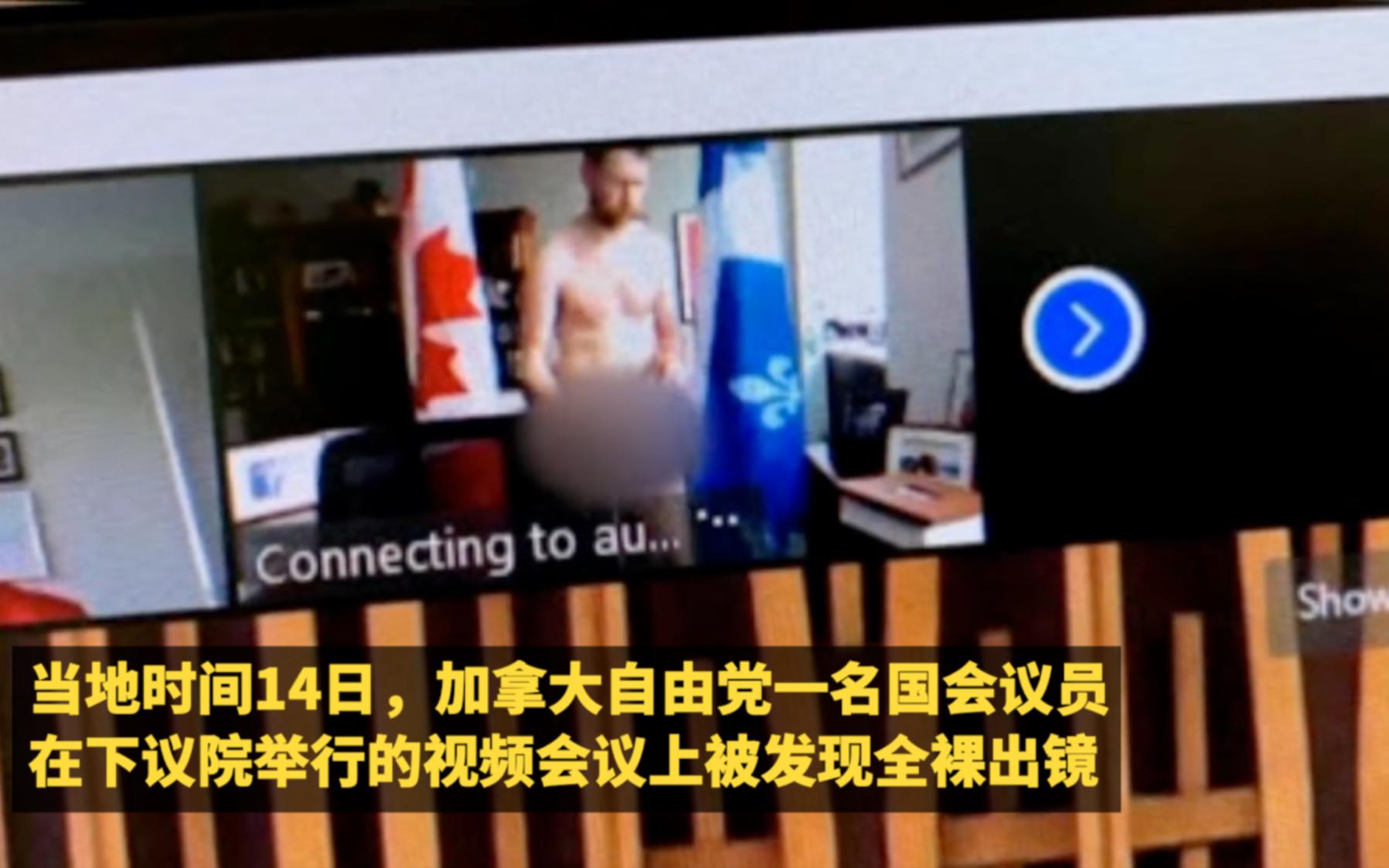 加拿大议员视频会议时不慎全裸出镜,同事调侃:他身材很好