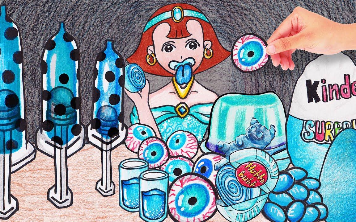 茉莉公主吃蓝色食物